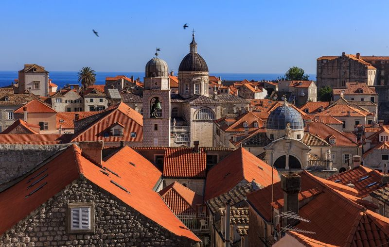 Old town Dubrovnik Jacinth Dubrovnik, Croatia Architecture Building Exterior Built Structure Religion Outdoors Roof Place Of Worship Clear Sky Day Dome Town City No People Spirituality Sky Blue Cityscape Nature