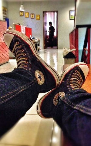 Converse Relaxing Taking Photos