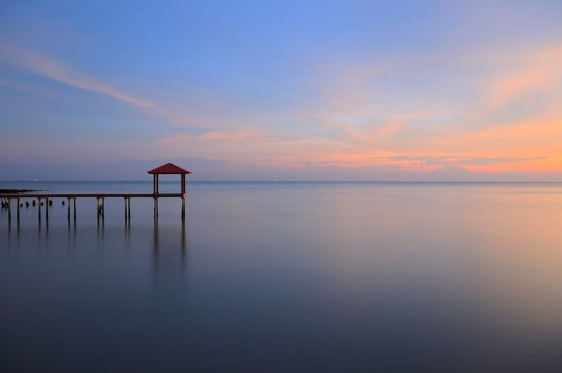 pier Pier Beach Beauty In Nature Day High Tide Horizon Over Water Idyllic Jetty Long Exposure Nature No People Outdoors Reflection Scenics Sea Sea And Sky Sky Sunset Sunsets Tranquil Scene Tranquility Water Be. Ready.