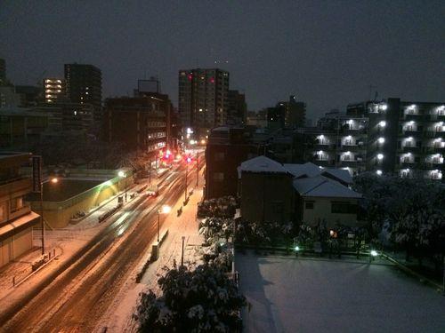 Learn & Shoot: After Dark Japan Tokyo Kameari Snowing Traffic Lights