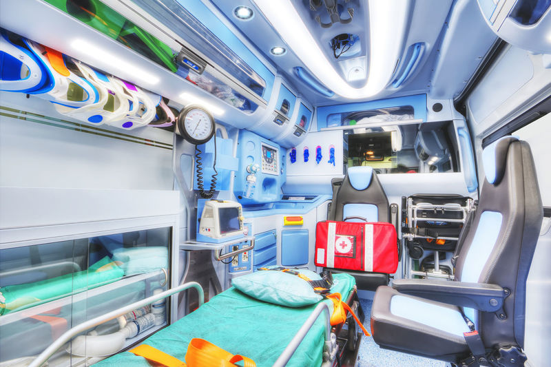 Interior of ambulance