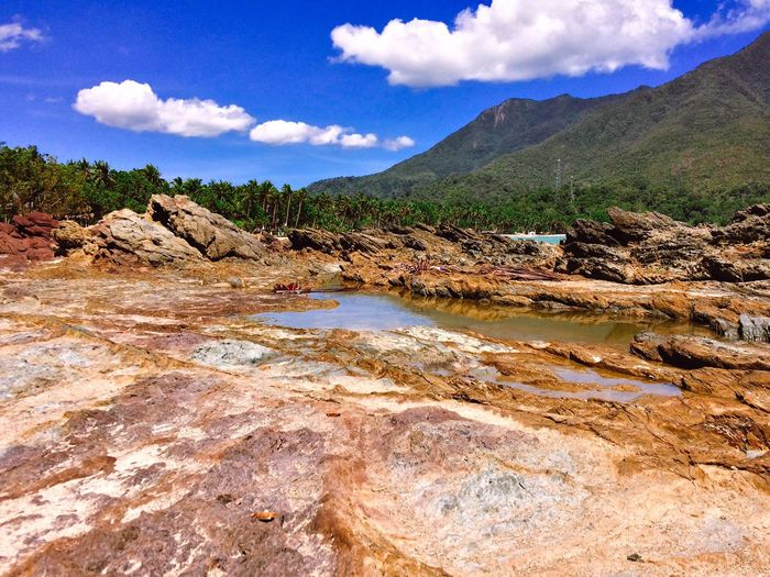Rocks Rock - Object Sea And Sky Seascape Mountains Nature_collection Nature Photography Nature On Your Doorstep Travel Photography Trees And Sky Green Sabang Itsmorefuninthephilippines
