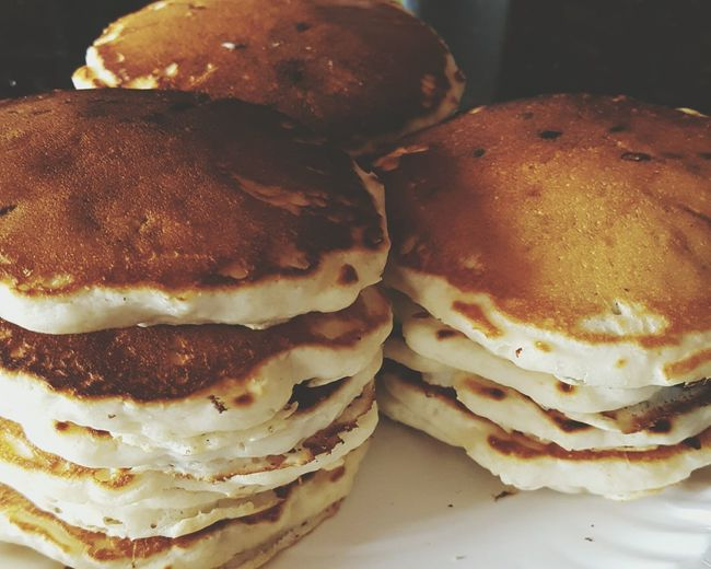 Sunday morning...have a blessed day everyone. Pancakes Tasty Food Food And Drink Freshness Ready-to-eat Indulgence Aromatic Homemade Cooking At Home Chocolate Chips Fluffy Hot Off The Griddle