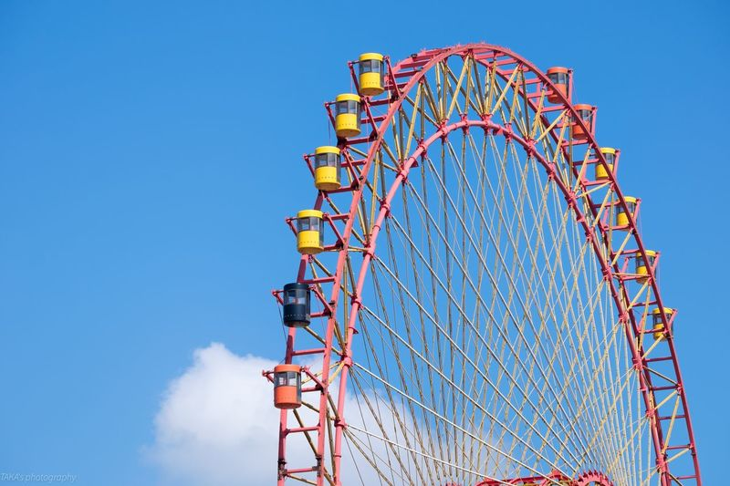 EyeEm Selects Amusement Park Low Angle View Arts Culture And Entertainment Clear Sky Blue Day