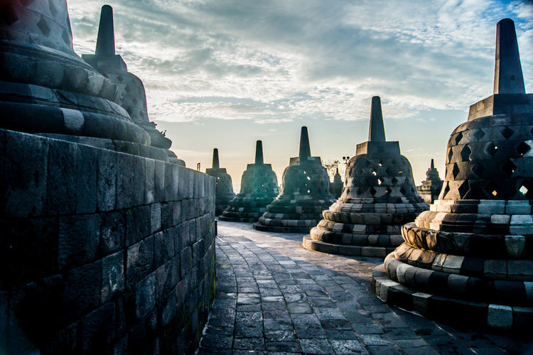 Sunrise at borobudur Architecture Borobudur INDONESIA Sunrise Temple Unesco UNESCO World Heritage Site Yogjakarta Landscape Landscape_photography Feel The Journey Neighborhood Map