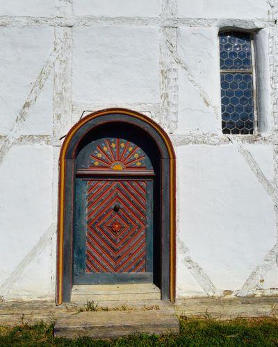 Old church door Doors And Windows Painted EyeEm Selects Door Window Built Structure Day Architecture No People Building Exterior Outdoors