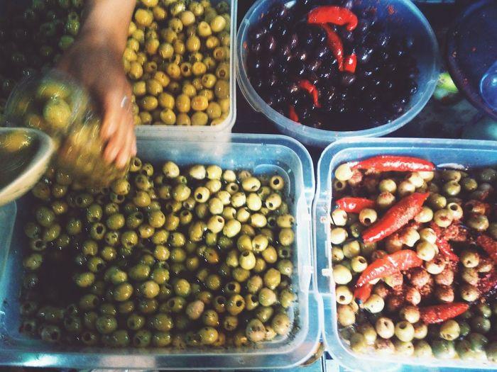 Food Market Olives Puerto Iguazu Argentina Food And Drink For Sale No People