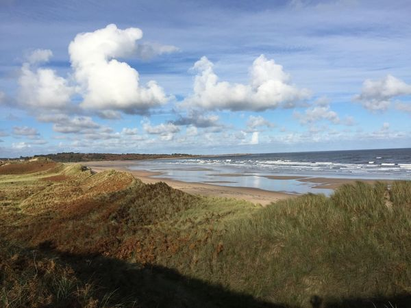 Nature Sea Beach Tranquility Tranquil Scene Grass Beauty In Nature Sky Scenics Landscape Outdoors Water Day Sea And Sky Holiday Growth Alnmouth Grass Sand Dune No People