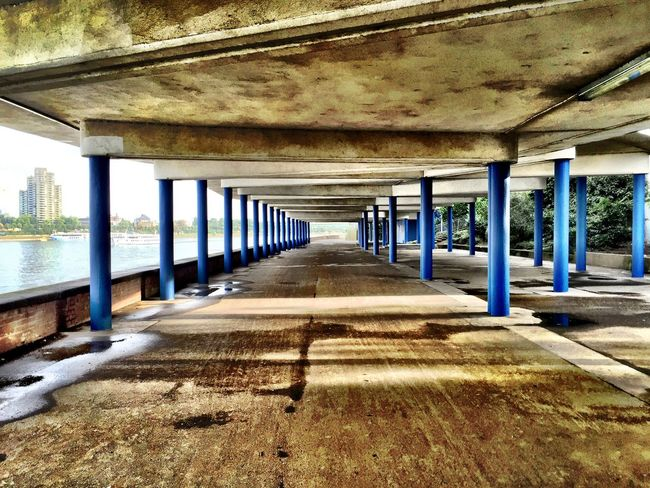 Notes From The Underground Bridge Colours Morning Walking Around Taking Photos Geometric Shapes Architecture Brutalism Check This Out
