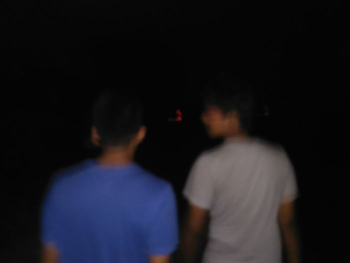 Full length of man at night
