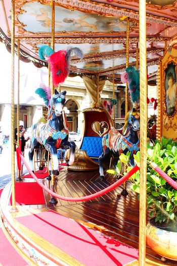 Like A Child Happiness Colourful Horse Travel Photography Streetphoto Firenze, Italy Florence Italy Firenze Florence Streetphotography Tourism Italy Carusell Day Multi Colored Arts Culture And Entertainment Outdoors Built Structure Carousel Decoration Art And Craft