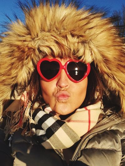 Kiss Lolita💞 Autumn Mood Autumn EyeEmNewHere Glasses Sunglasses Fashion Front View Portrait Real People Headshot Close-up Fur Hat One Person Fashion Glasses Winter Warm Clothing Cold Temperature Autumn Mood