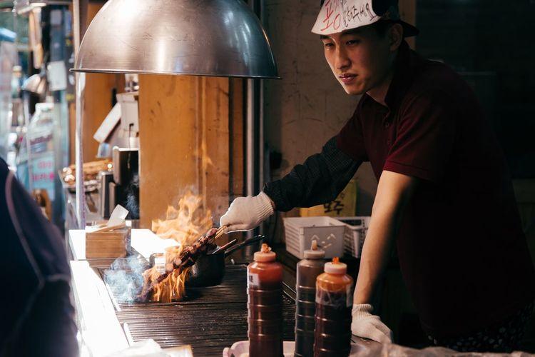 Snap A Stranger Snapshot Concentration Working Industry Effort Food Occupation Men Manual Worker Skill  Foodporn Korea South Korea
