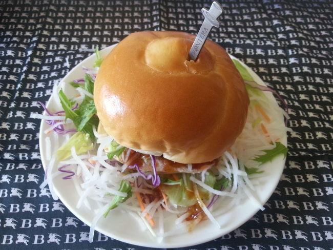 金の和風ハンバーガー、完成です。My Gold Humburger Humburger