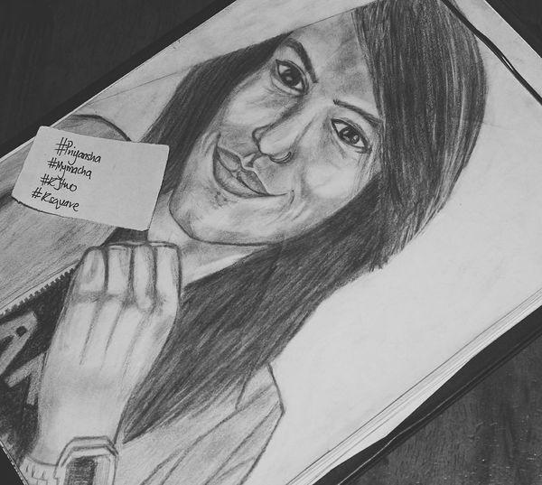 Sketch Smile Potrait Hair Eyes Nose Priyansha Priya HASHTAG Rjtwo Rsquare