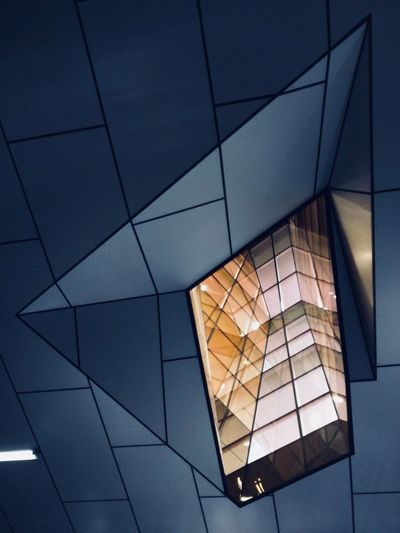 Langara Vancouver Glass Night Architecture Built Structure Low Angle View Modern Building Exterior Window Illuminated