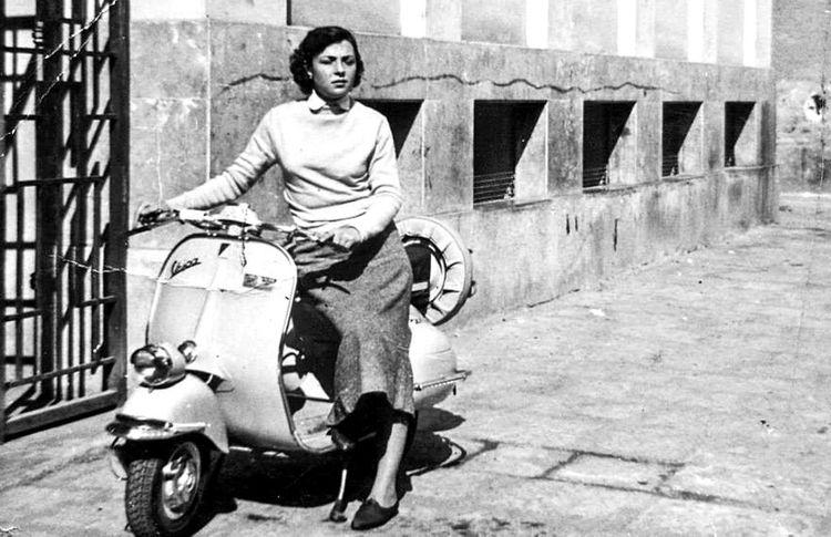 Vintage Photo Vespa Social Urban Lifestyle Palermo, Italy