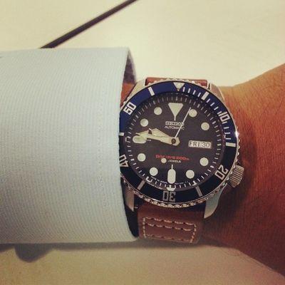 In formal mode today.. Seiko Diver Skx009j Skx009