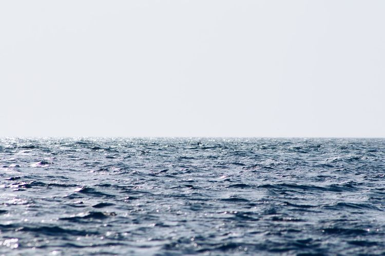 Blue Horizon Over Water Minimalism Nature Sea Shine Sky Water Wave Minimal