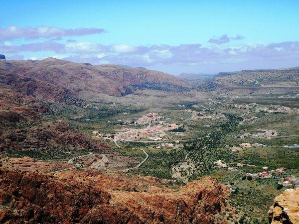 Morocco Beautiful Nature Stone Montain  Greenery Landscape Blue Sky Light Sousse Amazigh Tafraout Idaougnidif