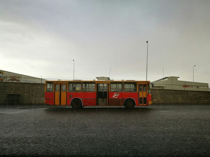 Lonely bus in