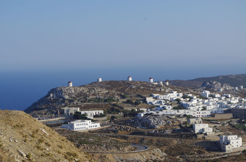 GREECE ♥♥ Griechenland Griechische Inseln Amorgos Amorgosisland Architecture Beauty In Nature Blue Building Exterior Built Structure Cityscape Clear Sky Day Greece High Angle View Mountain Nature No People Outdoors Scenics Sea Sky Town