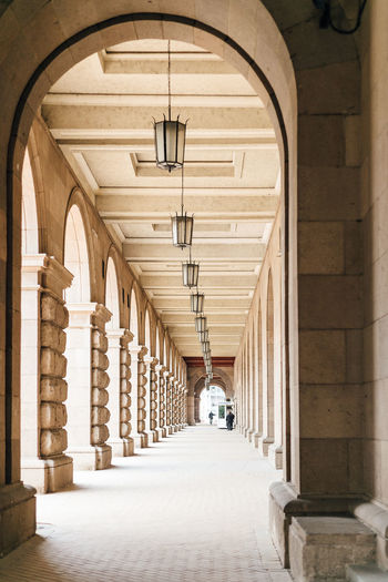 Arch Architecture Built Structure Direction Building The Way Forward Arcade Diminishing Perspective Architectural Column Corridor Indoors  In A Row Day Lighting Equipment No People The Past Ceiling Empty History Colonnade Electric Lamp Luxury