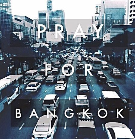 P R A Y !!!!!!! Sad Praying Bangkok Ratchaprasong Thailand