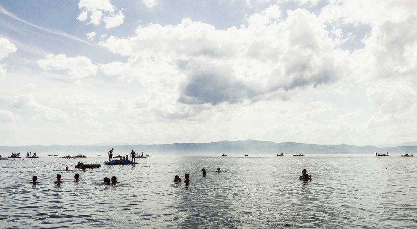Macedonia Ohrid Macedonia Swimming Fog Over Water Mountains Lake Pedalo Landscape The Traveler - 2015 EyeEm Awards The Great Outdoors - 2015 EyeEm Awards
