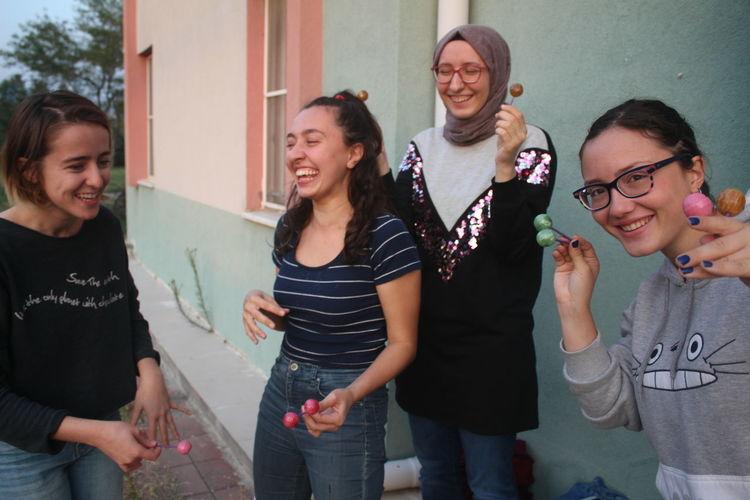 throwbaaaackkkk Lollipop Friendship Young Women Smiling Togetherness Women Cheerful Party - Social Event Standing Happiness Mature Women