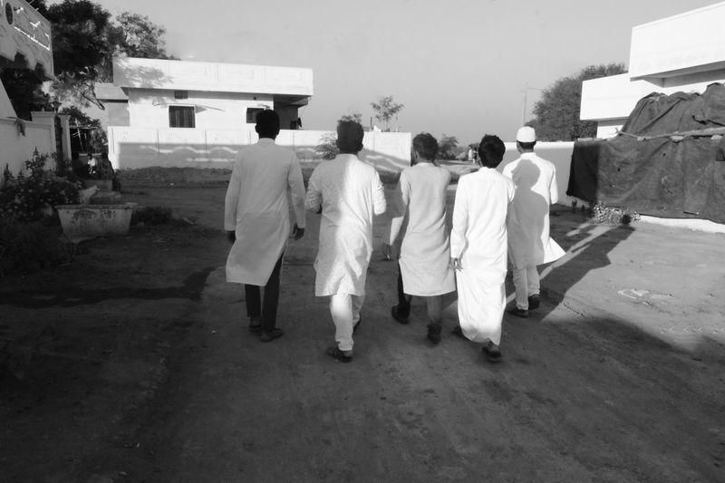 D3300 India Nikon Walking Around Arab Blackandwhite Men Mud Road Outdoors Rear View Streetphotography Village