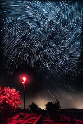 Astro - Vortex Vortex Astronomy Beauty In Nature Galaxy Germany Harz Illuminated Long Exposure Low Angle View Milky Way Motion Nature Night No People Plant Scenics - Nature Sky Space Space And Astronomy Star Star - Space Star Field Star Trail Tranquility Tree