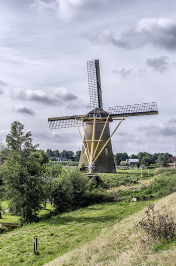 Dutch Windmill Cloud - Sky History Built Structure Nature Outdoors Landscape Puttershoek Historic Building Netherlands, Dutch Windmill Windmill Of The Day Windmill Nature Architecture No People