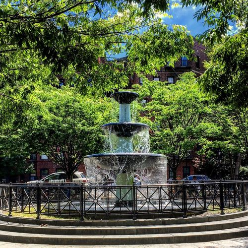 Fountain Park - Man Made Space Park NYC NYC Photography Park Life Trees Summer Fountain Square First Eyeem Photo