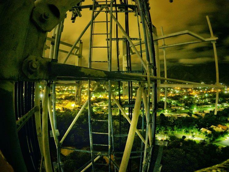 Nice radio tower climb Urban Skyline Urbex Night City Urban Height Photography Radio Tower