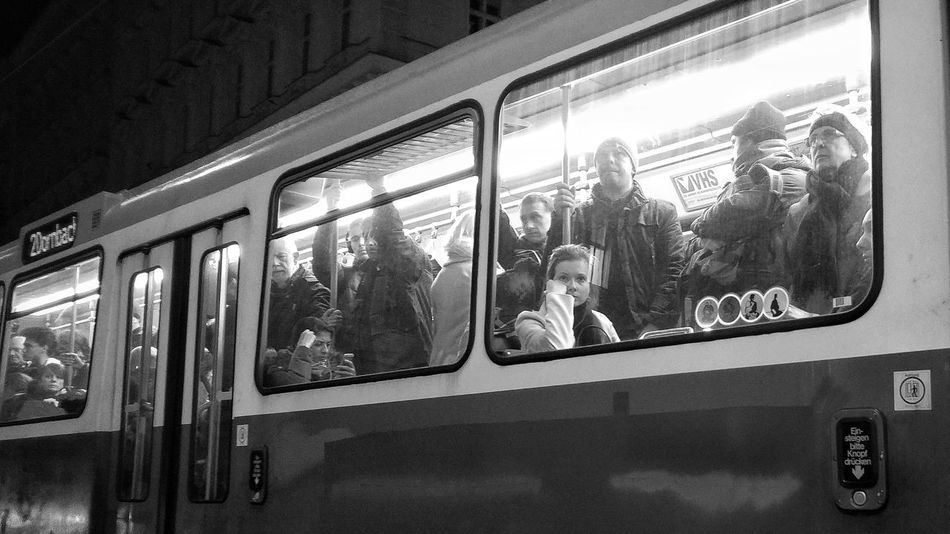 Train - Vehicle Public Transportation Mode Of Transport Transportation Window Rail Transportation Land Vehicle Subway Train Day Indoors  No People Sky From My Point Of View Vienna Black And White Vienna, Austria Point Of View Blackandwhite 1. Bezirk Wien Streetphoto_bw Vienna Commuter Train Tram Lonely Wien Streetphotography