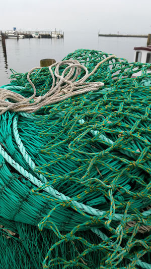 fishing net Baltic Sea Day Fishing Net Germany Green Color Hiddensee Net Neuendorf No People Outdoors Port Water