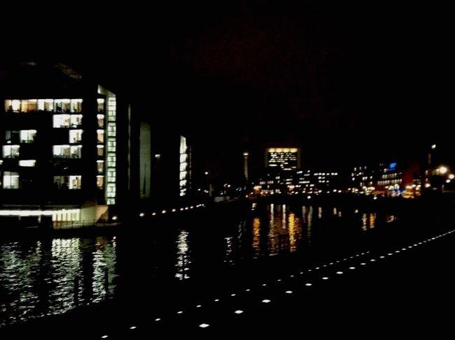 Berlin Night View of the Sprea River German night Night Lights Me Around The World On My Way Nightphotography Eye4photography