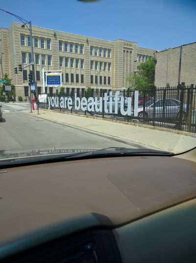 Gotta love the city! You Are Beautiful Cool Sign Feel Good Showcase June Adapted To The City