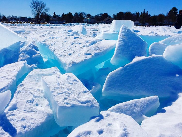 Blue Ice Snow Cold Temperature Winter Frozen Ice Nature Landscape Beauty In Nature Tranquil Scene Environment