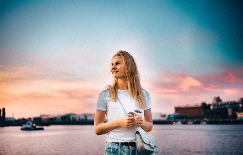 35mm Bremen VSCO Architecture Beautiful Woman Blond Hair Casual Clothing Cloud - Sky Hair Hairstyle Leica Leisure Activity Lifestyles Nature Nautical Vessel One Person Outdoors Sea Sky Standing Sunset Transportation Water Young Adult Young Women