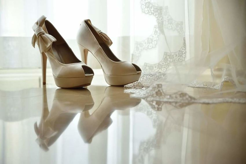 Shoe High Heels Reflection Fashion Indoors  Window Business Finance And Industry Dress Shoe No People Day Close-up Bridal Shop