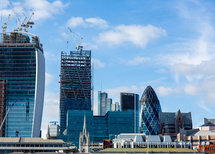Building Exterior Built Structure Architecture City Sky Office Building Exterior Building Cloud - Sky Modern Office Skyscraper Machinery Nature Crane - Construction Machinery Tall - High Construction Industry Day Industry Tower Cityscape No People Development Outdoors Financial District  Cityscape cityscapes London