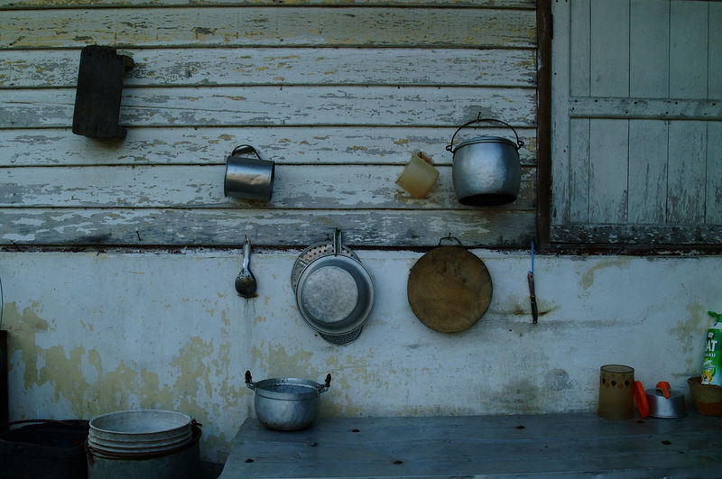 Architecture Container Cooking Utensil Day Domestic Room Food Food And Drink Home Household Equipment Indoors  Kitchen Kitchen Utensil Metal No People Old Shelf Still Life Wall - Building Feature Wood - Material