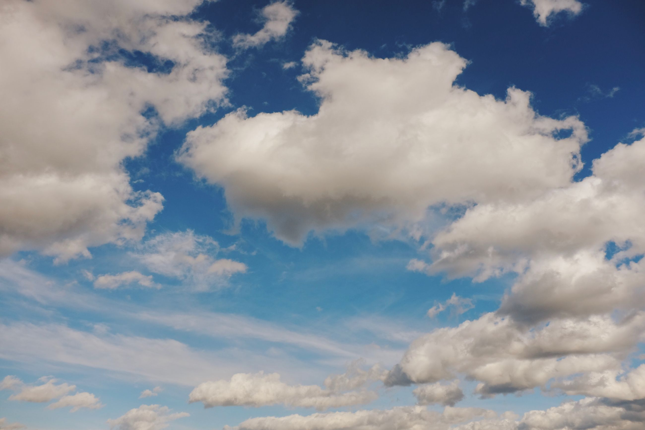 cloud - sky, sky, beauty in nature, low angle view, scenics - nature, tranquility, no people, tranquil scene, nature, day, blue, white color, idyllic, outdoors, backgrounds, full frame, cloudscape, fluffy, non-urban scene, meteorology