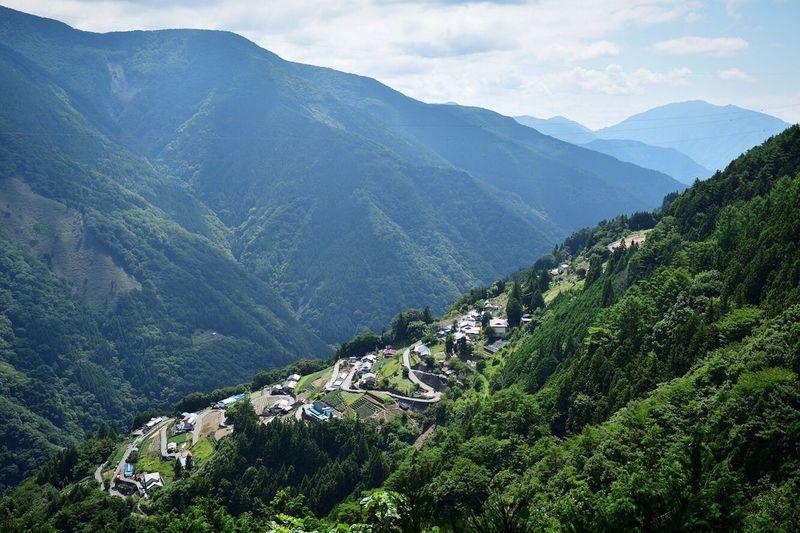Mountain Mountain Range High Angle View Nature Green Color Landscape Beauty In Nature Day Tranquility Shimogurinosato Kamimura IIDA Nagano Japan