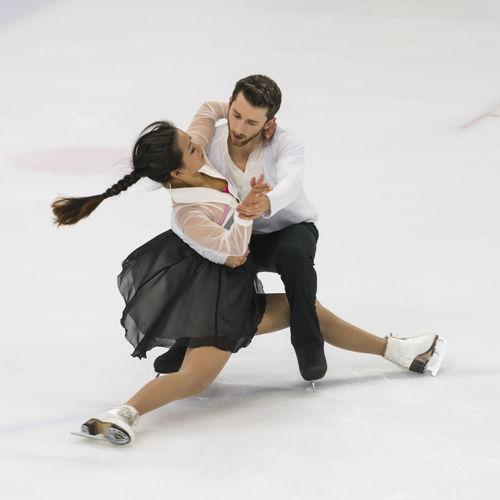 Full Length Of Couple Figure Skating