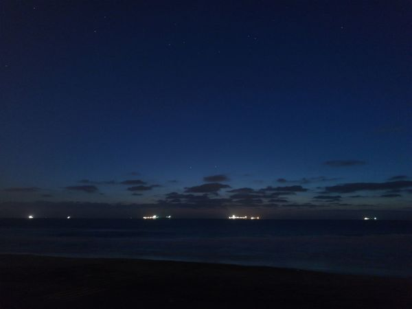 Night Beach Sea Sky Star - Space Cloud - Sky No Filter Boat Stars Landscape Nature Beauty In Nature Horizon Over Water
