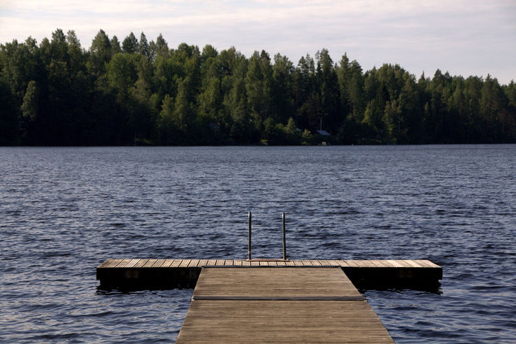 Finland Finland♥ Helsinki Lakeview Beauty In Nature Blue Day Diving Platform Forrest Lake Lake View Lakeside Nature No People Outdoors Scenics Sky Tranquil Scene Tranquility Tree Water Waterfront