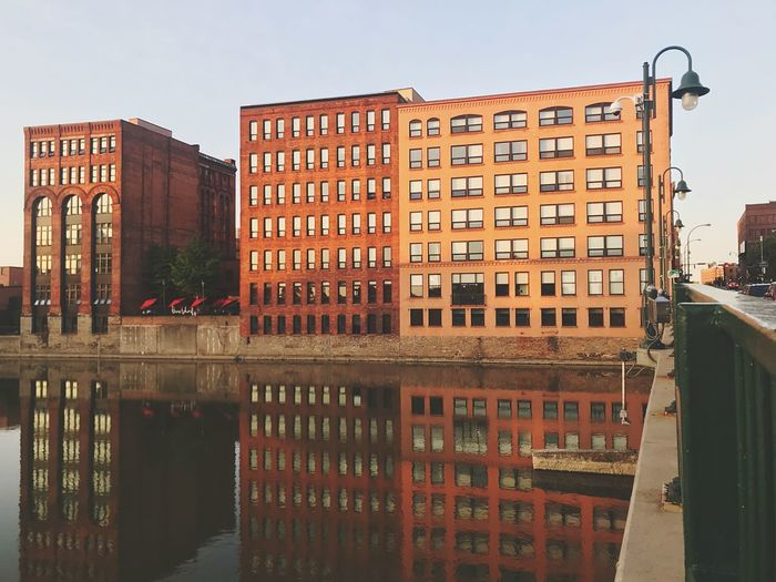 City Center Downtown District Urbanphotography Urban Apartment Buildings Structure River Rochester, NY New York Genesee River Buildings On River Bank Reflections In The Water Reflection Built Structure Architecture Building Exterior City Water Sky Building Residential District Cityscape City Life Clear Sky No People Day Nature